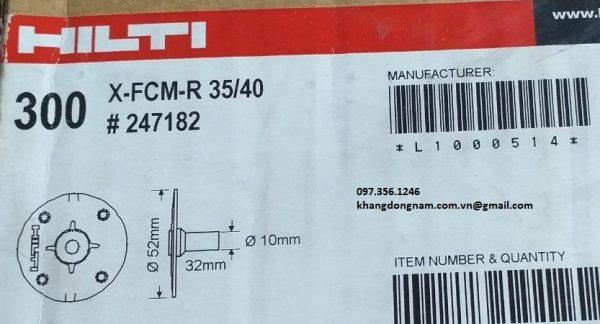 Đĩa kẹp grating Hilti X-FCM-R 35/40 #247182 5