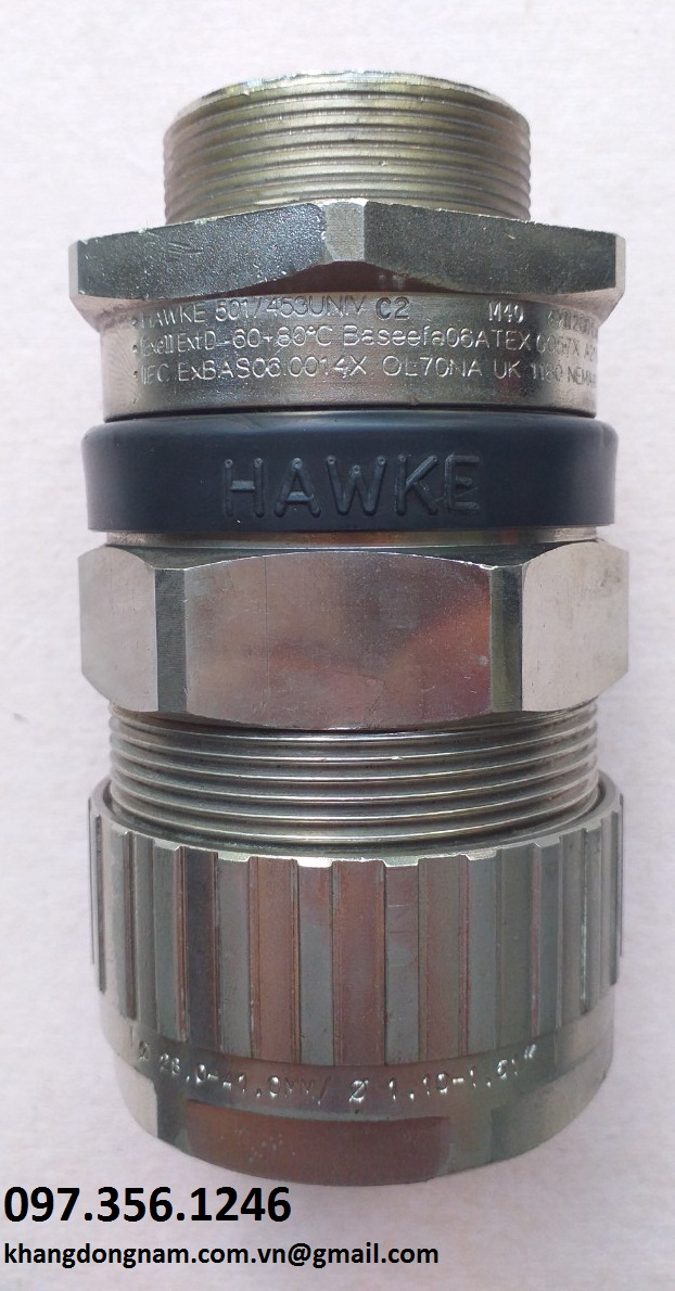 Ốc Siết Cáp Chống Cháy Nổ Hawke 501/453/Univ C2 M40 Mạ Nicken (1)