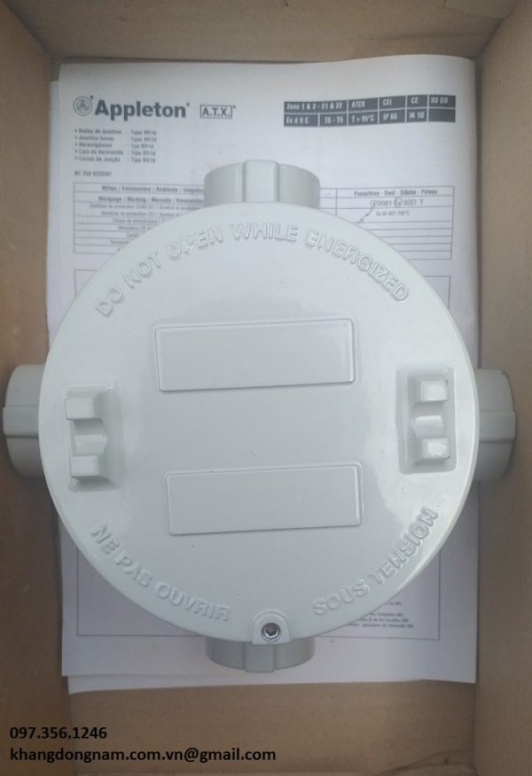 Hộp junction box ATX JBDR45G chống cháy nổ Inox (0)