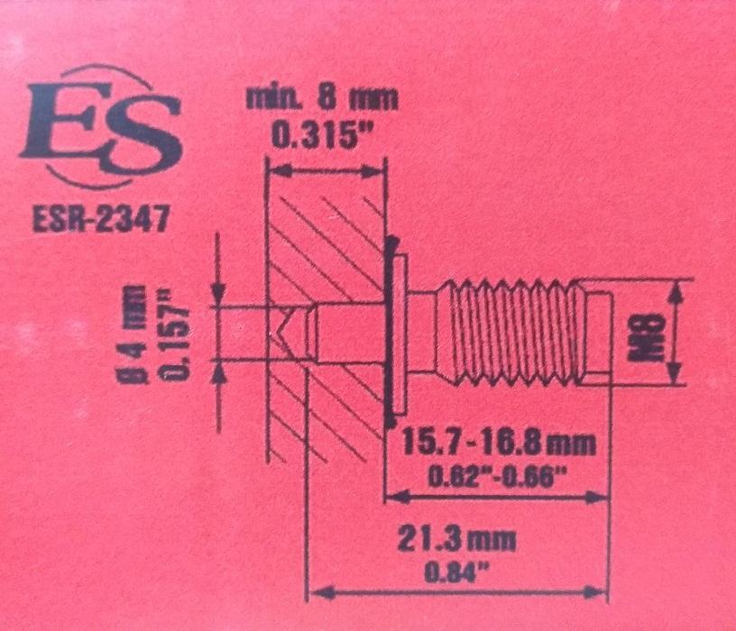Vít cấy Hilti X-BT M8-15-6 SN12-R #377074 kt