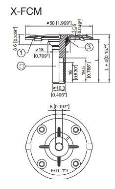 Đĩa kẹp grating Hilti X-FCM-R 35/40 #247182