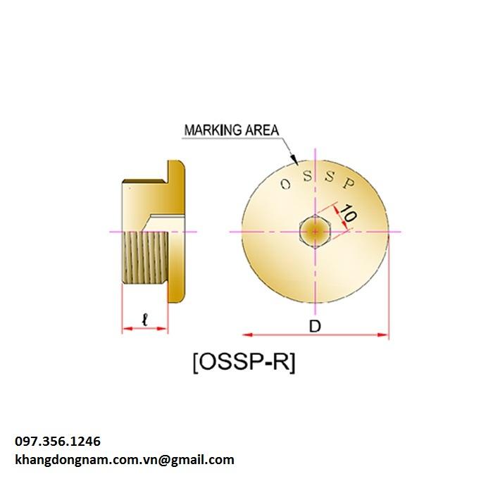 Nút bịt chống cháy nổ OSCG OSSP-R Mxx