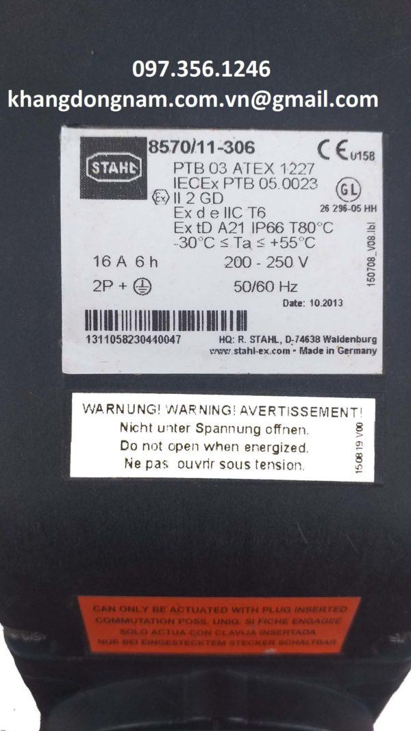 Ổ cắm chống cháy nổ STAHL 8570/11-306 (3)