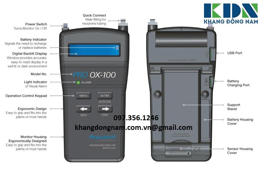 Máy Đo Lượng Oxy PRO OX-100 Aquasol (6)