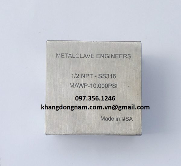 Đầu Nối Cross Metalclave Engineers 1/2 NPT 10.000PSI