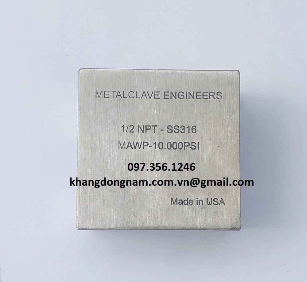Đầu Nối Góc Vuông Cross Metalclave Engineers 1/2 NPT 10.000PSI