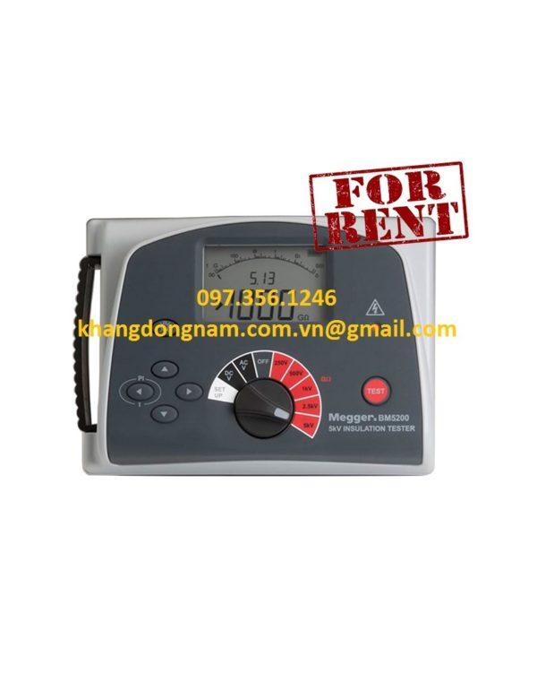 Dịch Vụ Cho Thuê Máy Đo Điện Trở Megger BM5200 (1)