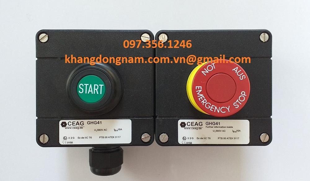Nút Khởi Động Và Dừng Nút Khẩn Cấp CEAG GHG41 (2)